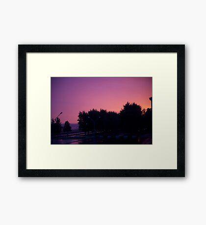 Great sunrise Framed Print