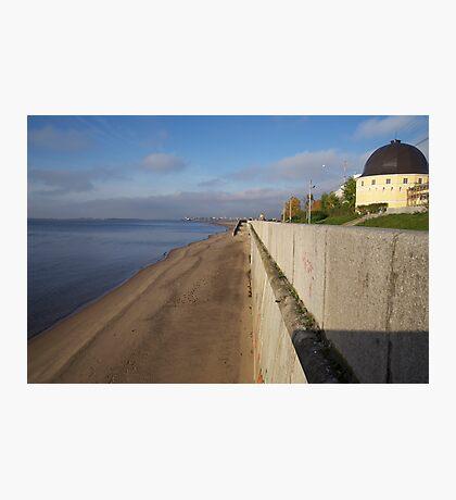 View of sunny embankment Photographic Print