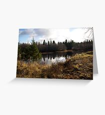 Small river, but very beautiful view Greeting Card