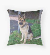 My German Shepard Throw Pillow
