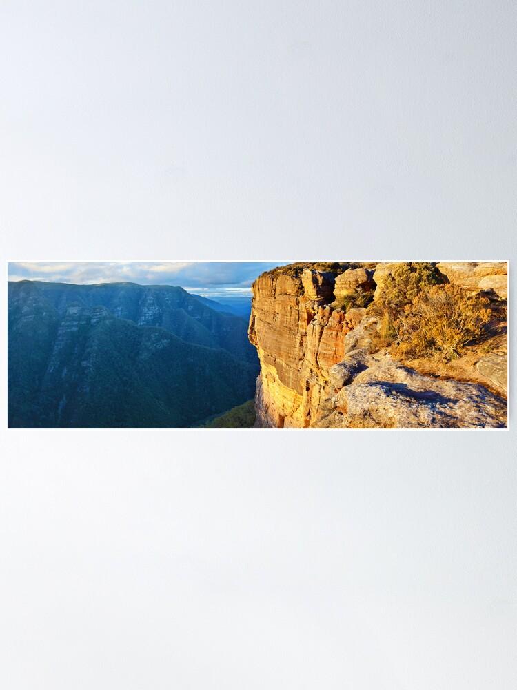 Alternate view of Kanangra Walls, Kanangra-Boyd National Park, New South Wales, Australia Poster