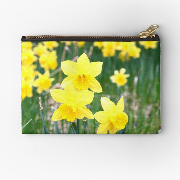 Spring Daffodils bloom in Montana Zipper Pouch