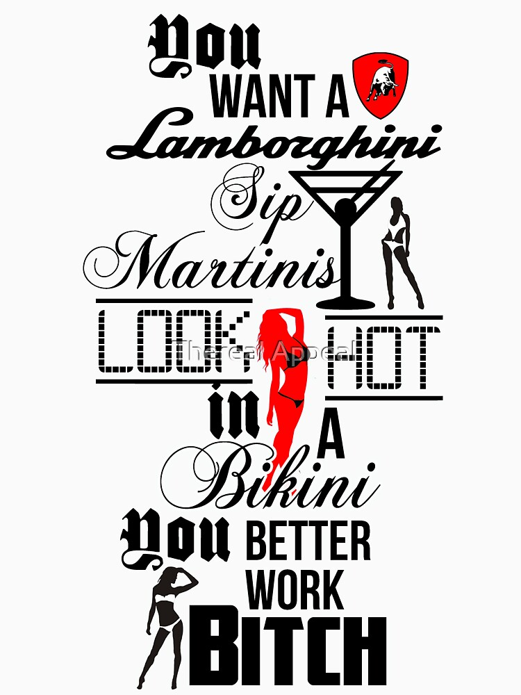 Lamborghini Martinis Hot Bikini Work Bitch Britney Spears by AdultTitles