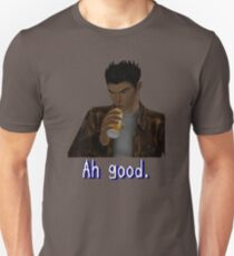 "Shenmue - Ryo Drinking ""Ah good."" Unisex T-Shirt"