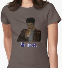 """Shenmue - Ryo Drinking """"Ah good."""" Women's Fitted T-Shirt"""