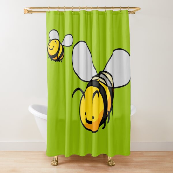 Cheerful Bees Shower Curtain