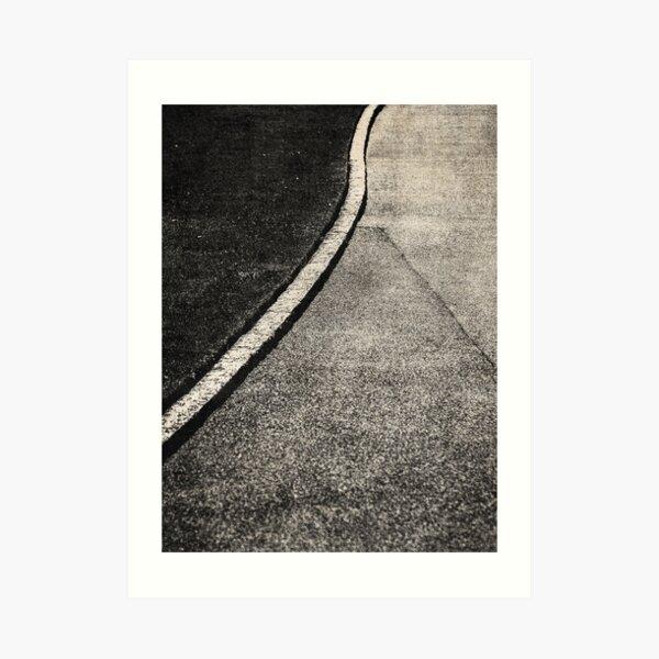 NOIR ABSTRACT / Curve Art Print