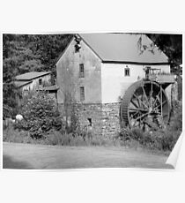 B & W Old Red Mill Poster