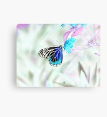 Beautiful Butterfly on flower - Negative Photo Canvas Print