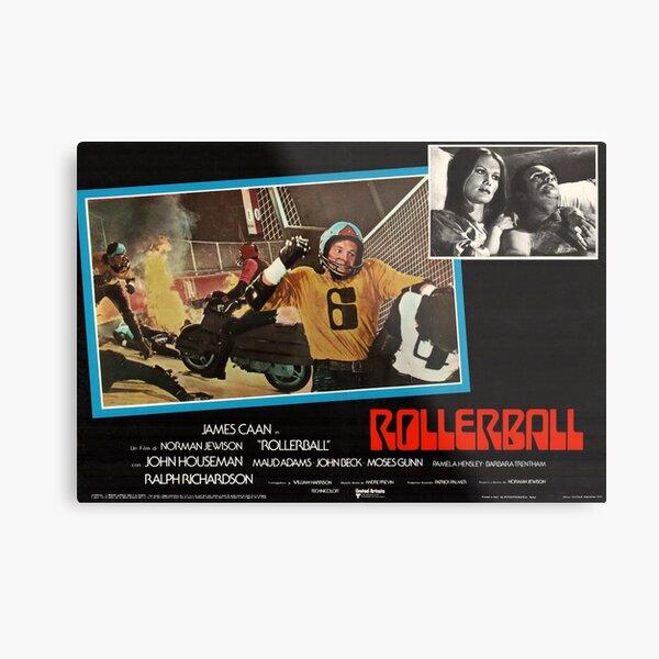 Rollerball 1975 restored Italian Lobby card poster Metal Print