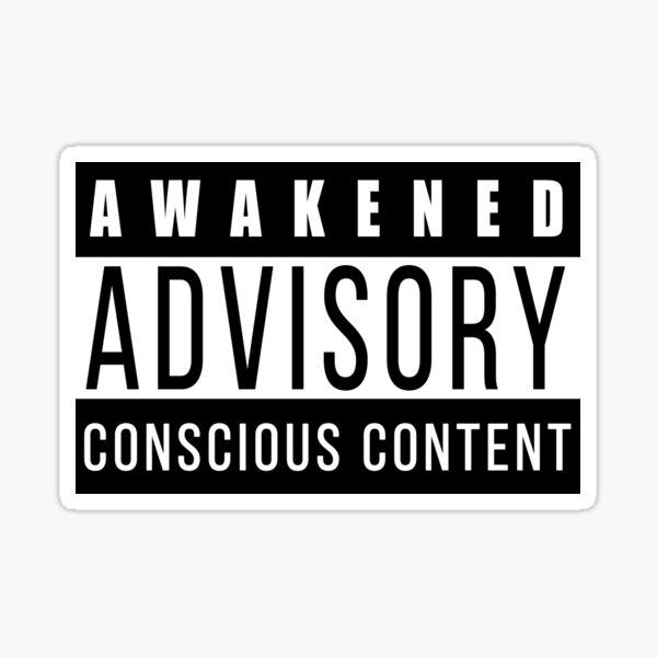 Contenido Consciente Consciente Despierto Pegatina