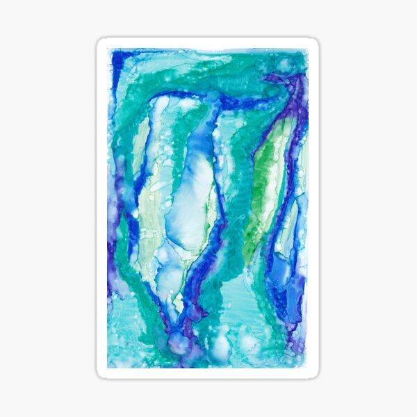 blue turquoise swirl  Sticker