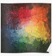 Rainbow Fragments - acrylic smash Poster