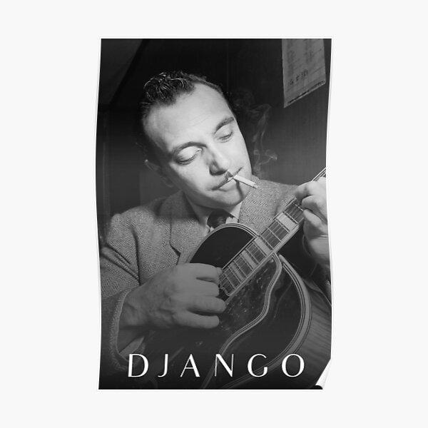Django Reinhardt Jazz Guitarist Poster