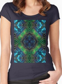 Psychedelic Fractal Manipulation Women's Fitted Scoop T-Shirt
