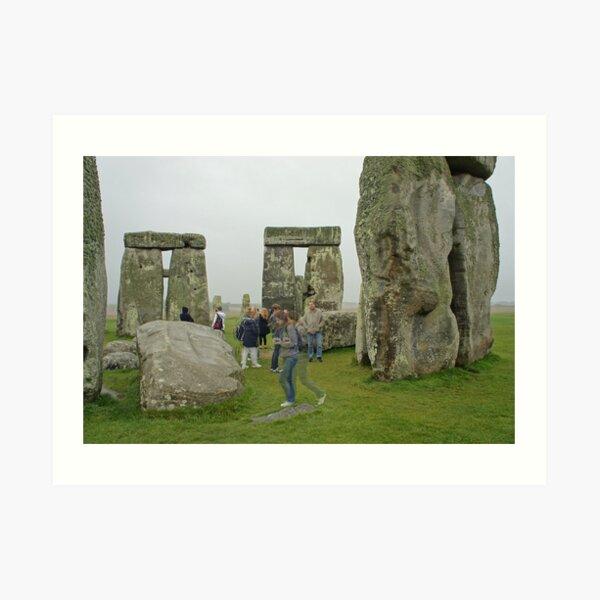 Stonehenge Ghosts Art Print