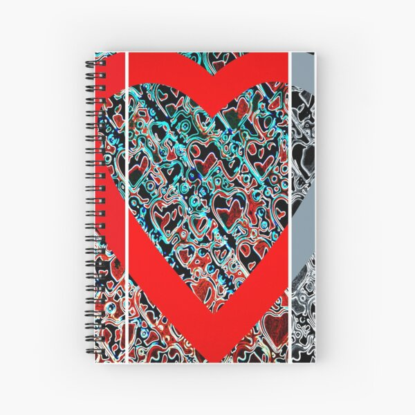 Hearts a plenty x 3  Spiral Notebook