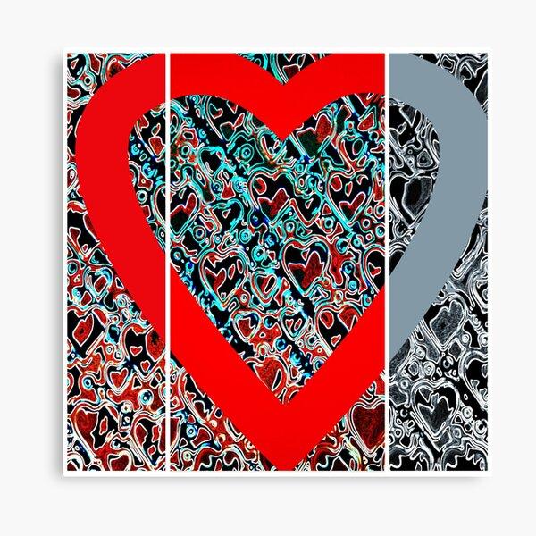 Hearts a plenty x 3  Canvas Print