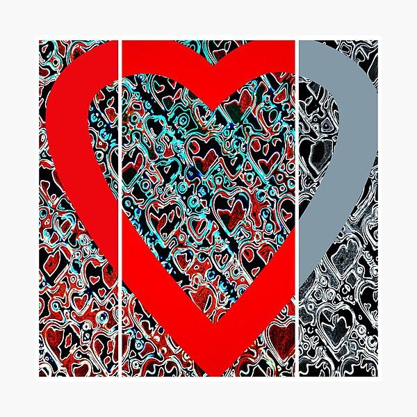 Hearts a plenty x 3  Photographic Print
