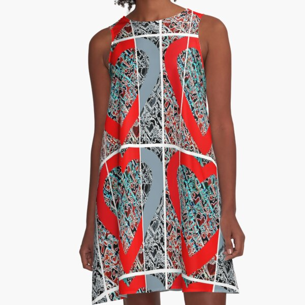 Hearts a plenty x 3  A-Line Dress
