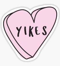 YIKES Sassy Conversation Heart ♡ Trendy/Hipster/Tumblr Meme Sticker