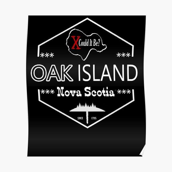 Oak Island Treasure Hunter Knights Templar Cross Mystery Nova Scotia Poster