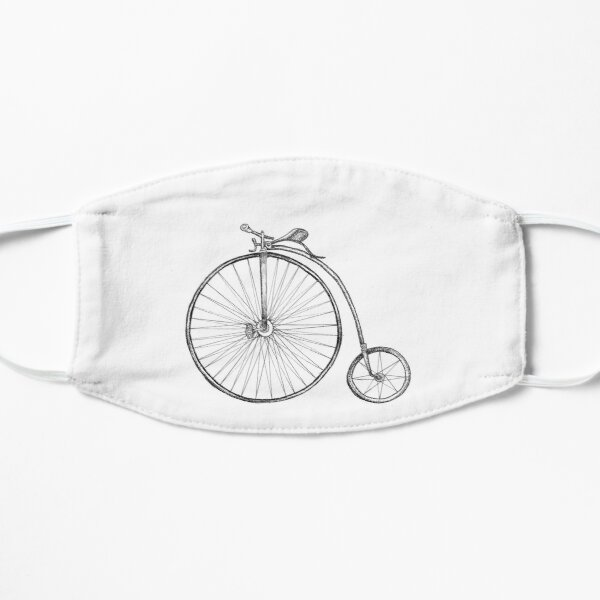 Penny Farthing Bicycle Flat Mask
