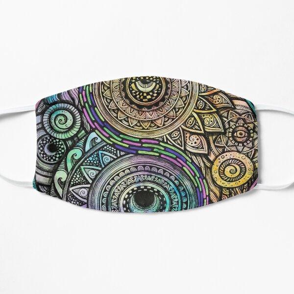 Trippy Yin yang Sun and Moon Mandala Mask
