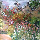 Herbaceous Border at East Riddlesden Hall by Susan Scott