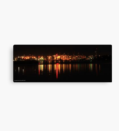 the docks at night (melbourne) 001 Canvas Print