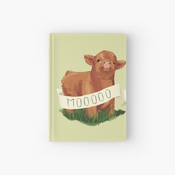 Baby Highland Cow Hardcover Journal