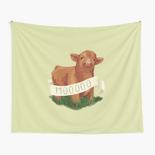 Baby Highland Cow Tapestry