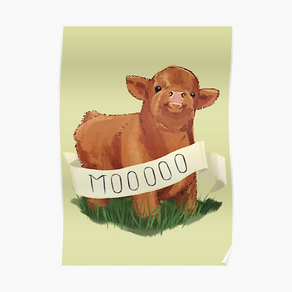 Baby Highland Cow Poster