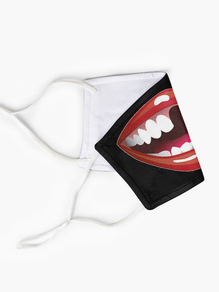 Alternate view of mouth 1 design Mask