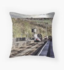 Looking Down The Platform Throw Pillow