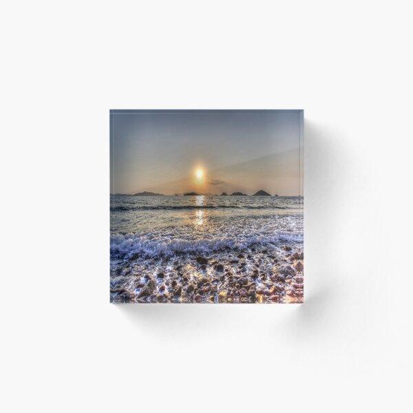 Bodrum Beach Sunset Acrylic Block
