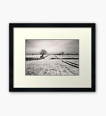 Fields in monochrome Framed Print