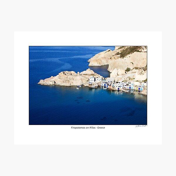 Fishing village Firopotamos on the island of Milos, Cyclades, Greece. Photographic Print