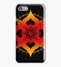 lianai hearts mandala iPhone Case/Skin