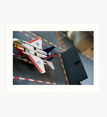 Starscream on the Flagg Art Print