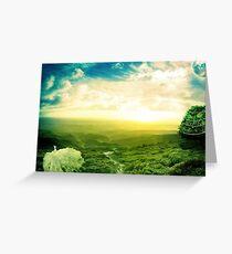 Beautiful fantasy scenery Greeting Card