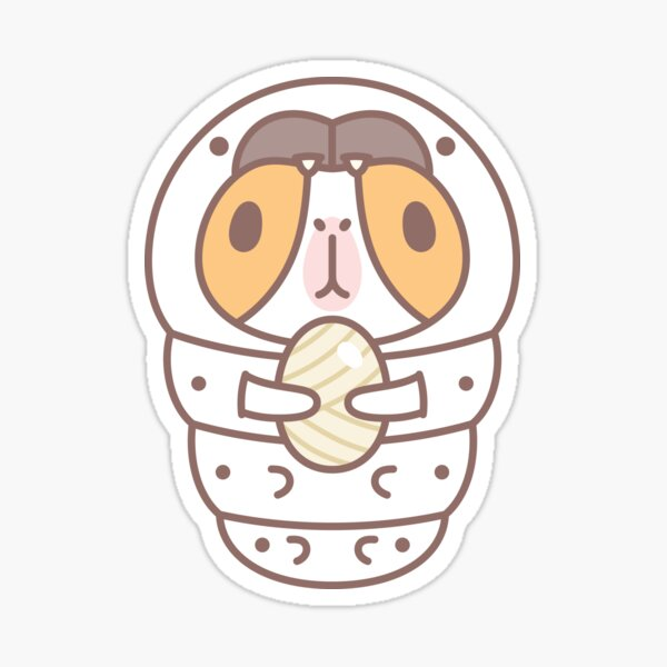 Guinea pig in Silkworm Costume  Sticker