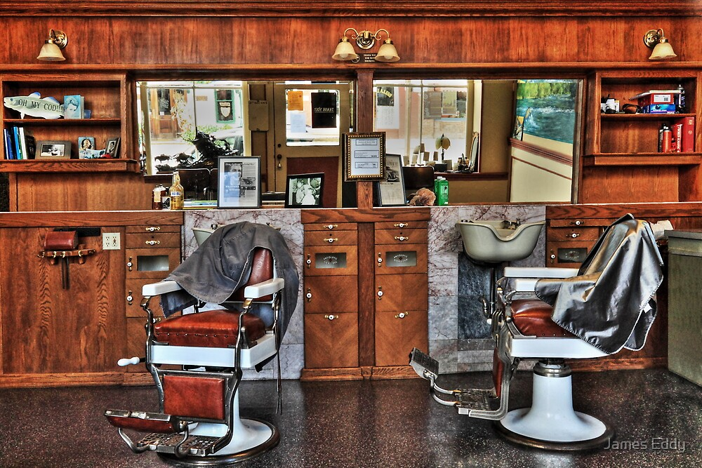 Ye Old Barber Shop by James Eddy