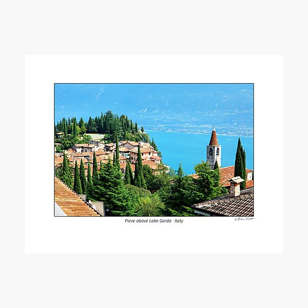 View from Pieve to Lake Garda, Italy Photographic Print