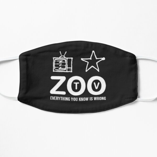 U2 ZOO TV POR ABEL 2017 Mascarilla plana