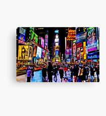 Go to Time Square ,Take a pic of me with a Leica  Canvas Print