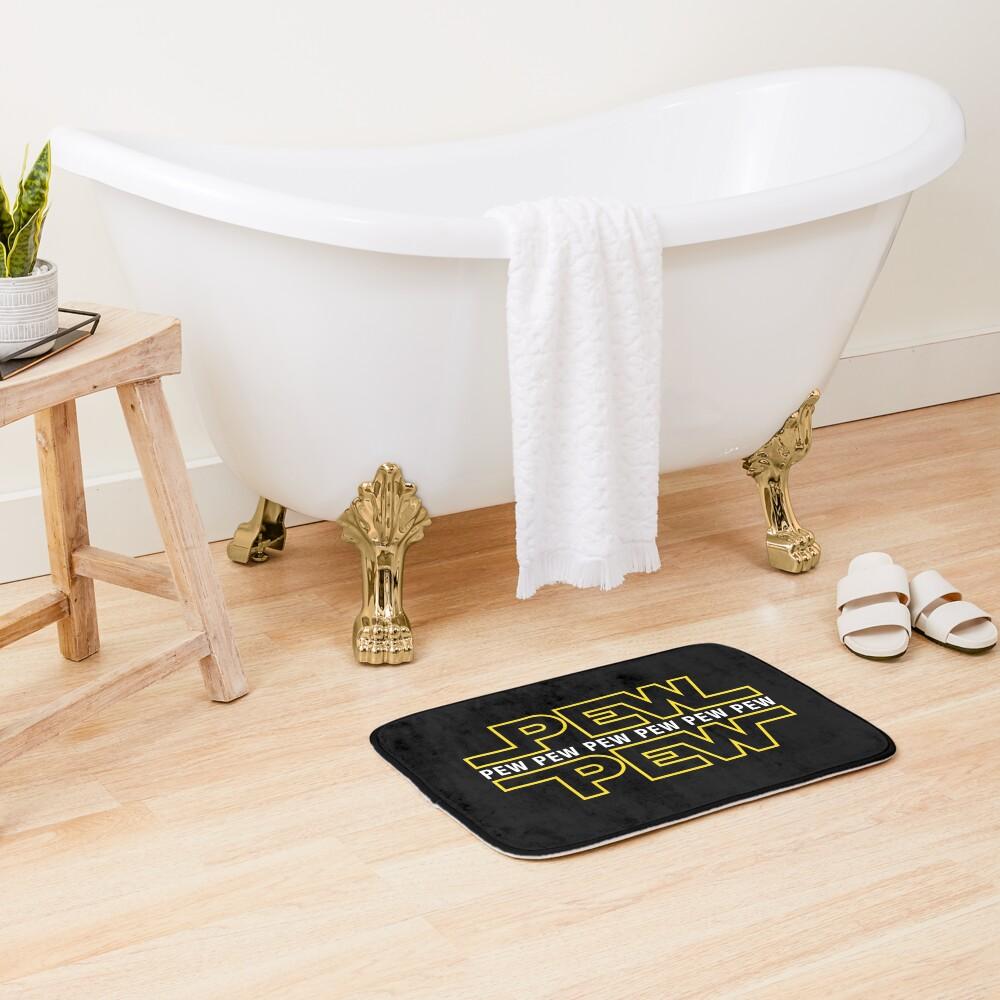 Pew Pew Pew Bath Mat
