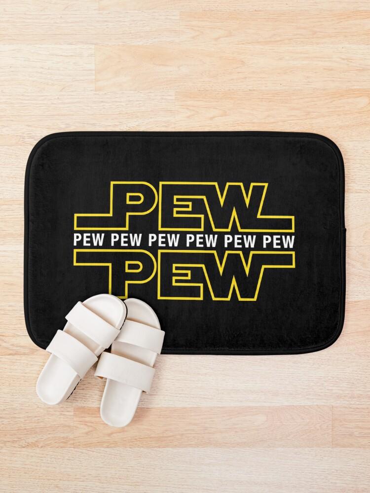 Alternate view of Pew Pew Pew Bath Mat