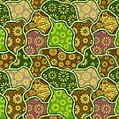 Cool Pastel Tones Retro Flowers by artonwear