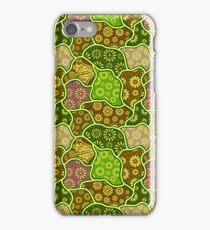 Cool Pastel Tones Retro Flowers iPhone Case/Skin